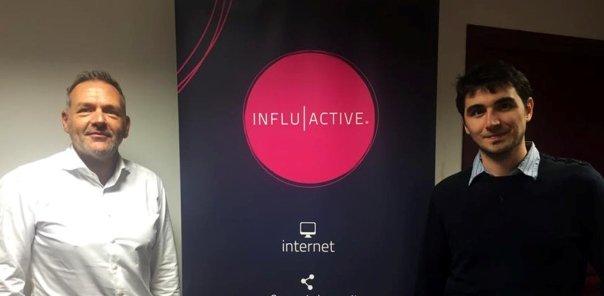 A gauche, Hervé Bigal gérant d'Influactive, à droite Mehdi Coly, fondateur des startups Linkeyword et optimiz.me, spécialisées dans le référencement web