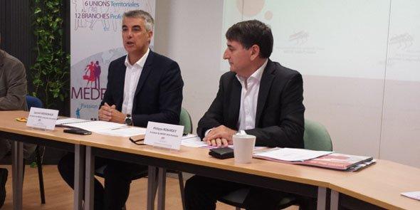 Laurent Boissonade (Medef LR) et Philippe Robardey (Medef MP)