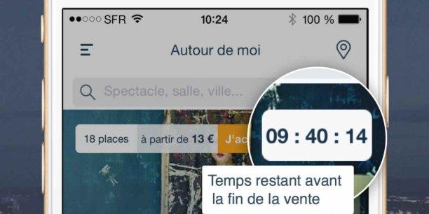 L'application permet d'acheter en ligne des places à la dernière minutes pour les spectacles lyonnais