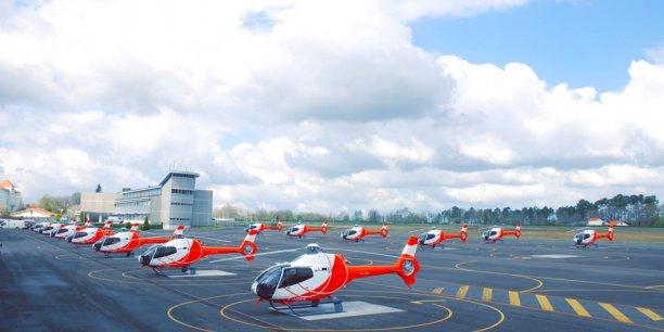 Aperçu des 36 appareils composant la flotte d'Helidax.
