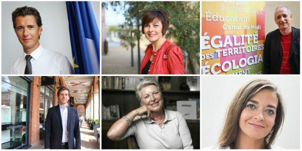 Vincent Terrail-Novès, Carole Delga, Gérard Onesta, Damien Lempereur, Maithé Carsalade et Mathilde Tolsan.