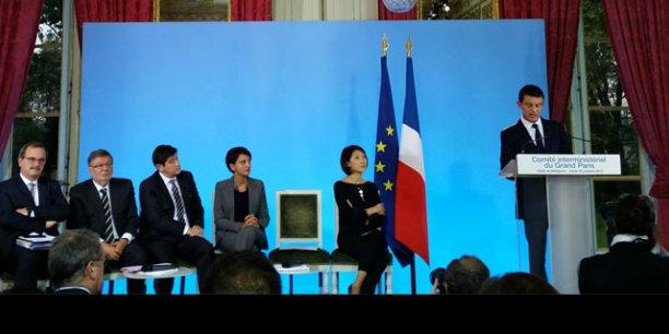 Jean François Carenco (à gauche) et Manuel Valls ont ciblé 15 zones stratégiques pour l'aménagement du Grand Paris