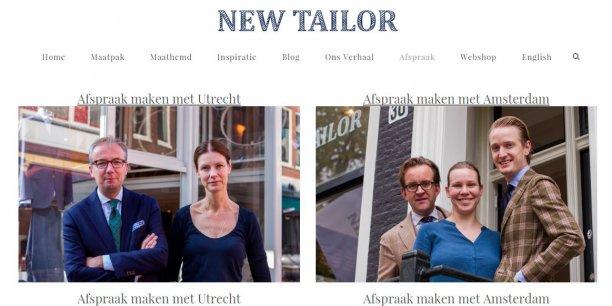 New Tailor, dont l'équipe est basé à Amsterdam et à Utrecht, aux Pays-Bas, a utilisé la photo du DRH d'Air France pour une campagne publicitaire vantant les mérites d'une chemise de rechange