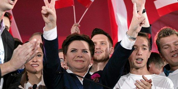 Beata Szydło, candidate de la droite conservatrice polonaise au poste de premier ministre.