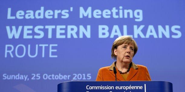 Ce soir, ce n'est qu'une pierre à l'édifice pour surmonter cette épreuve, a expliqué Angela Merkel lors du mini-sommet à Bruxelles pour gérer la crise des réfugiés en Europe.