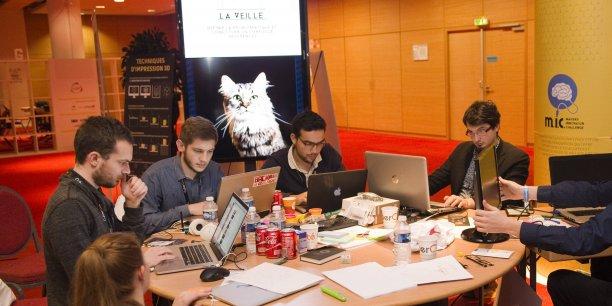 Une équipe durant le makers innovation challenge de Lyon.
