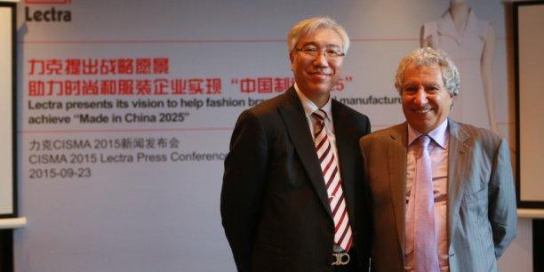 Plus que jamais, Daniel Harari, à droite, va jouer la carte chinoise pour établir la suprématie technologique de Lectra.