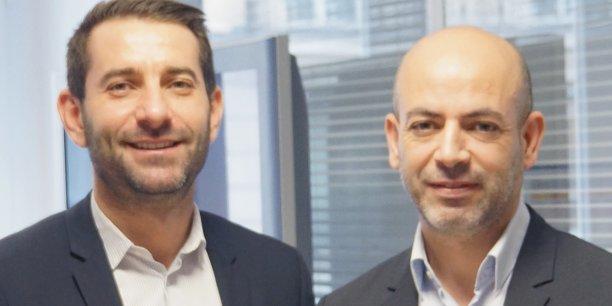 Jean-Christophe Tortora, Pdg de La Tribune (à g.) et Lounes Guemache, directeur de TSA - Tout sur l'Algérie.