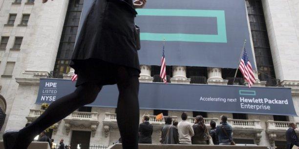 Lundi, Wall Street saluait la nouvelle architecture: le titre HPE gagnait 1,49% à 14,94 dollars vers 19H30 GMT, tandis que HP inc., qui garde les activités historiques dans les imprimantes et les ordinateurs, bondissait de 13,32% à 13,87 dollars