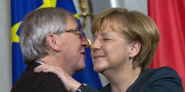 Jean-Claude Juncker et Angela Merkel.