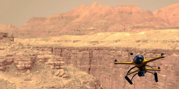 Bientôt un drone sur Mars (montage).