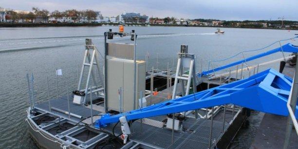 L'hydrolienne fluviale  Urabaila a été développée dans le cadre d'un projet collaboratif mobilisant des entreprises et des bureaux d'études de l'Aquitaine.