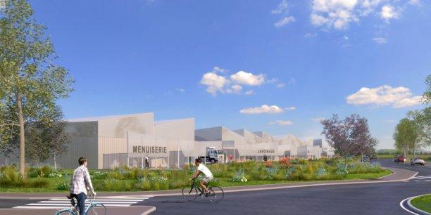 Il a un faux air de bâtiment industriel à l'ancienne, mais c'est bien un concept novateur qui se cache derrière Ecchobloc.