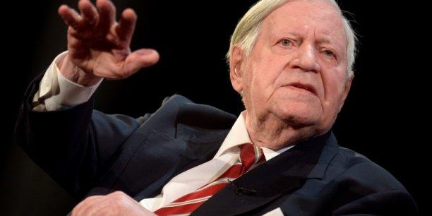 L'ancien chancelier Helmut Schmidt est mort à Hambourg