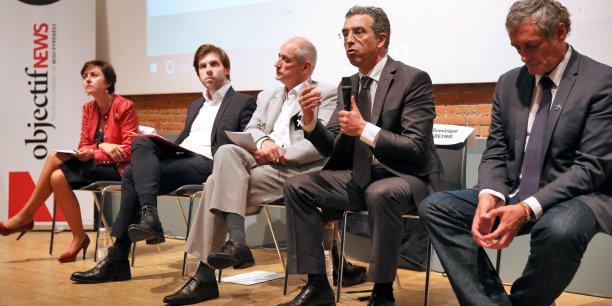 Carole Delga, Damien Lempereur, Gérard Onesta, Dominique Reynié et Philippe Saurel