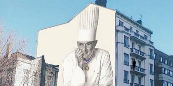 Une fresque d di e paul bocuse lyon for Cuisinier 32 etoiles