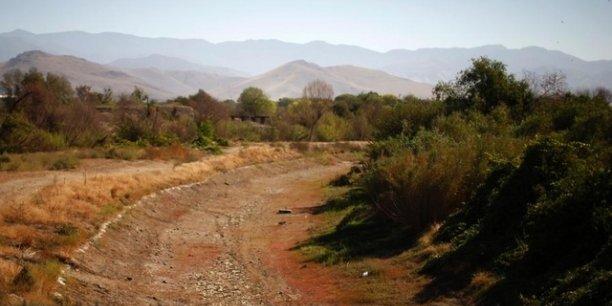 La rivière Tule en Californie asséchée
