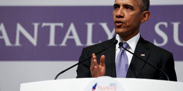Les gens qui fuient la Syrie sont ceux qui souffrent le plus du terrorisme, ce sont les plus vulnérables. Il est très important que nous ne fermions pas nos cœurs aux victimes d'une telle violence, a insisté Barack Obama, lundi, pendant sa conférence de presse à l'issue du G20.