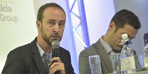 Sébastien Ackermann, fondateur de Base, lors du Forum Climat Cop 21 organisé à Bordeaux par La Tribune.
