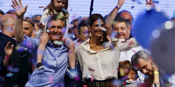 Mauricio Macri a été élu président argentin avec 51,4 % des voix.