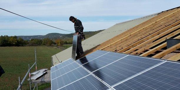 Installation photovoltaïque Lum del Larzac.