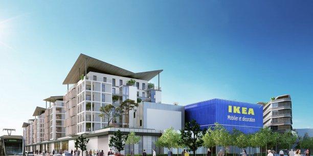 Le tout ne prévoit pas que 24.000 m2 de surface de vente mais également 16.700 m2 de logements, 2.000 m2 de bureaux et 3.400 m2 de commerces en pied d'immeuble.