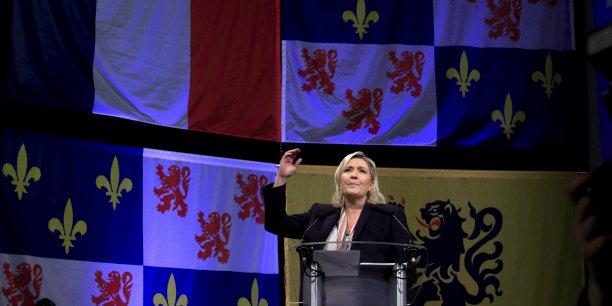 Le lendemain de son meeting à Lille, Marine Le Pen rencontrait les chefs d'entreprises de la région.