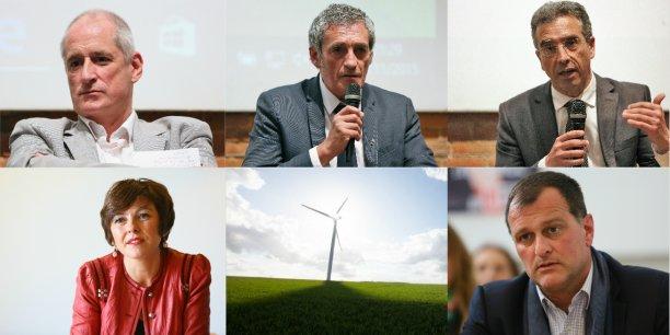 Les principaux candidats aux élections régionales en Languedoc-Roussillon-Midi-Pyrénées.