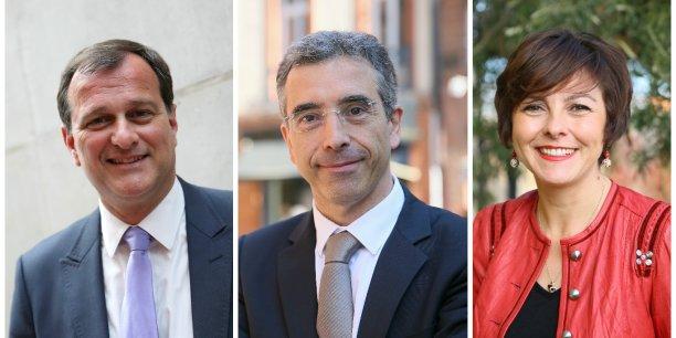 Louis Aliot, Dominique Reynié et Carole Delga