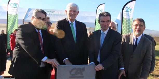 Marc Deschamps (au centre) directeur général du crédit Agricole Centre France