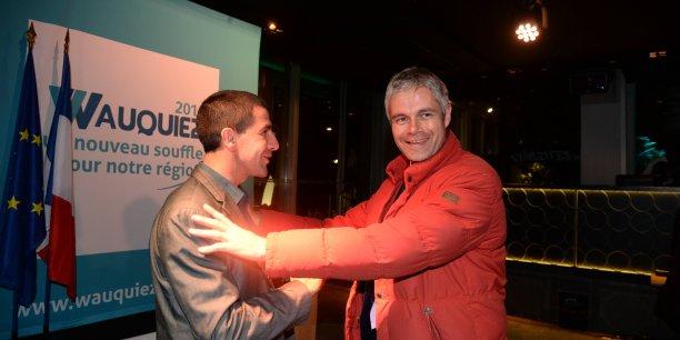 Laurent Wauquiez candidat LR en Auvergne Rhône-Alpes ce dimanche à son QG de campagne