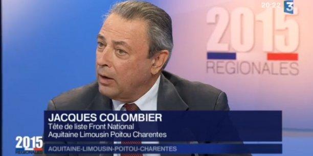 Jacques Colombier commente les résultats des élections régionales, où son parti a obtenu 22,9 % des suffrages.