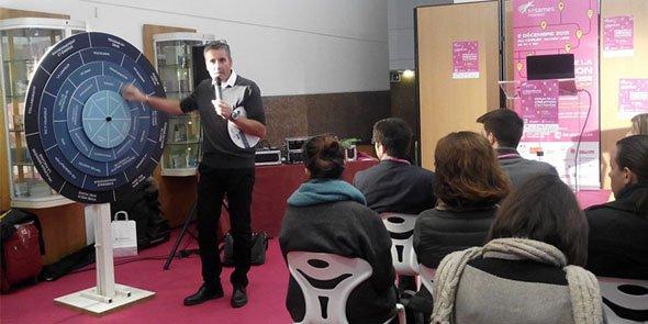 Inno Record est l'un des concepts de marketing de l'innovation créés par Visionari, dans le cadre du Forum de la création d'entreprise de Montpellier.