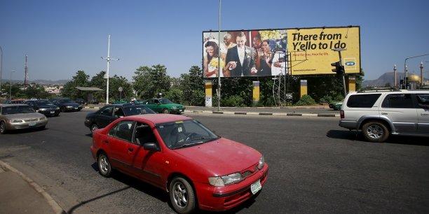 Une publicité pour MTN à Abuja, dans le quartier des affaires.