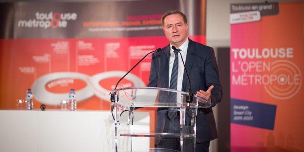 Jean-Luc Moudenc, maire de Toulouse et président de Toulouse Métropole, hier soir au Quai des Savoirs