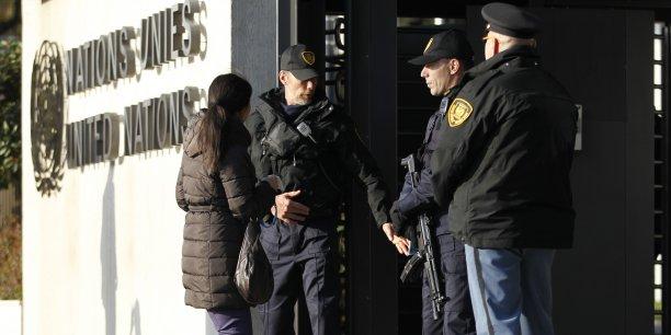 Le siège de l'Onu, à Genève, où devait se tenir vendredi une réunion sur la Syrie, en état d'alerte maximale jeudi.