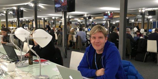 Bjorn Lomborg au Bourget, où se tenait la COP21
