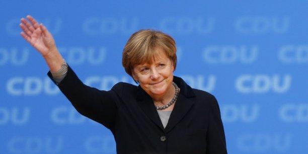 Angela Merkel a été ovationné par le congrès de la CDU.