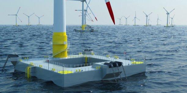 Ideol, basée à La Ciotat, développe des éoliennes flottantes