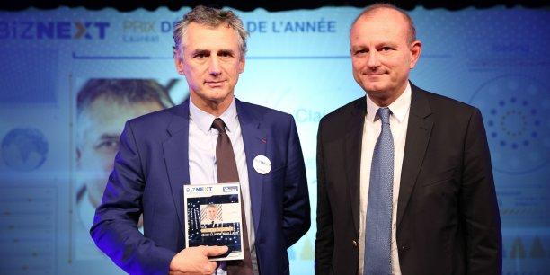 Jean-Claude Maillard, PDG de Figeac Aéro et Francis Molino de la Banque Courtois.