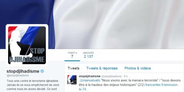 La plateforme stopdjihadisme se décline désormais sur Twitter et Facebook, où le gouvernement va diffuser des informations sur le terrorisme et des messages destinés à lutter contre la propagande djihadiste et notamment du groupe EI.