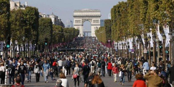 L'avenue des Champs-Élysées lors de la Journée sans voitures, le 27 septembre dernier.