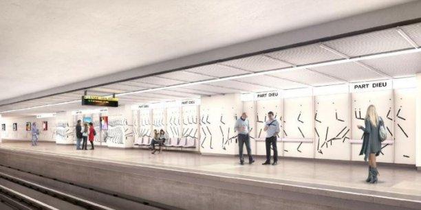 A la fin des travaux, la station gare Part-Dieu Vivier Merle sera plus lumineuse.