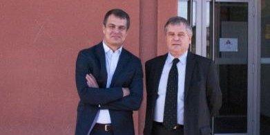 Gilles Collard (à gauche) et Bernard Sinou (à droite), désormais directeur général et président de l'Institut Bioforce.