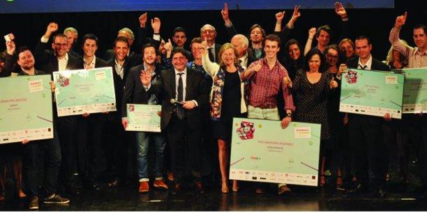 La remise du prix Moovjee en 2015.