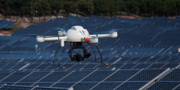 Avec l'inspection et l'analyse thermographique des parcs photovoltaïques Air Marine ouvre un nouvel axe d'activité pour sa flotte de drones.