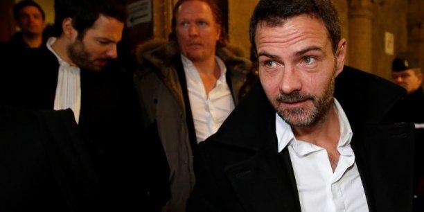 Jérôme Kerviel, le 18 janvier 2016, au palais de justice de Paris, où s'est déroulée durant près de deux heures, une audience à huis clos devant la commission d'instruction de la Cour de révision, audience à laquelle ont assisté Jérôme Kerviel, ses avocats, et ceux de la Société générale.
