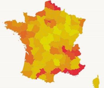 La France compte un peu plus de 8500 supérettes (entre 100 m2 et 400m2) en 2015.