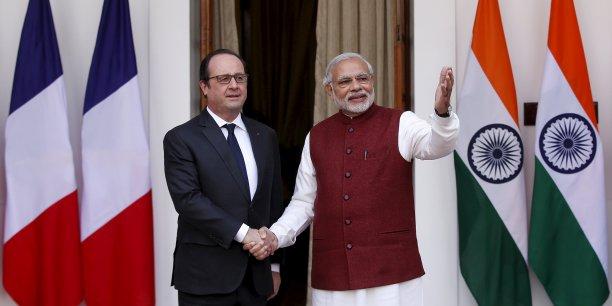 Ces investissements français constitueront des compensations dans le cadre de l'accord que le président français espère signer, concernant la vente à New Dehli de 36 Rafale.