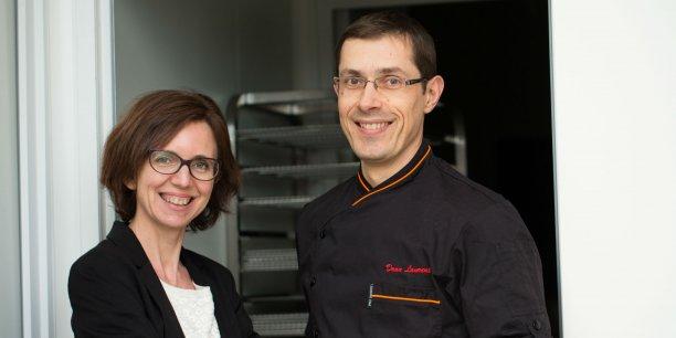 Christine Buscailhon et Laurent Dran, les deux fondateurs de Glouton Frais